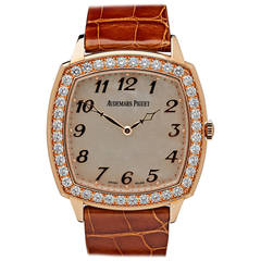 Audemars Piguet Ladies Rose Gold Diamond Tradition Automatic Wristwatch