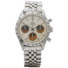 Rolex Stainless Steel Daytona Cosmograph Tropical Wristwatch Model 6239