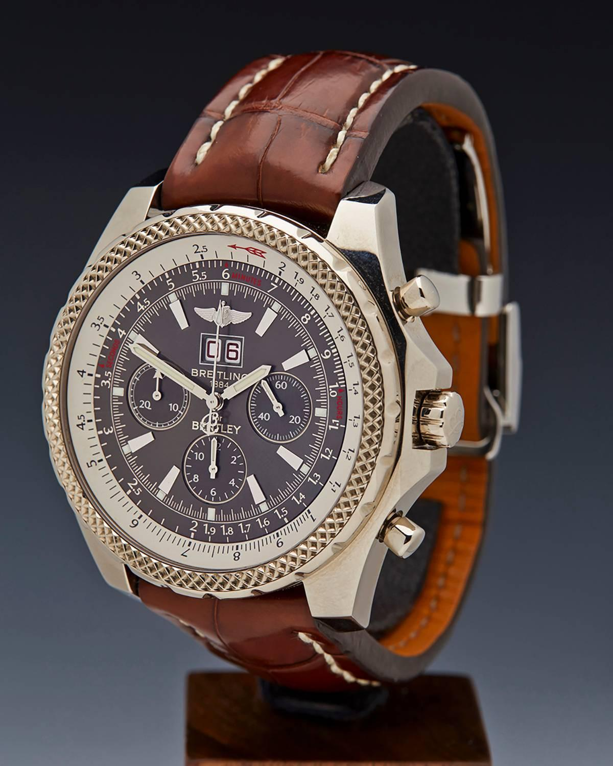 breitling white gold bentley chronograph limited. Black Bedroom Furniture Sets. Home Design Ideas