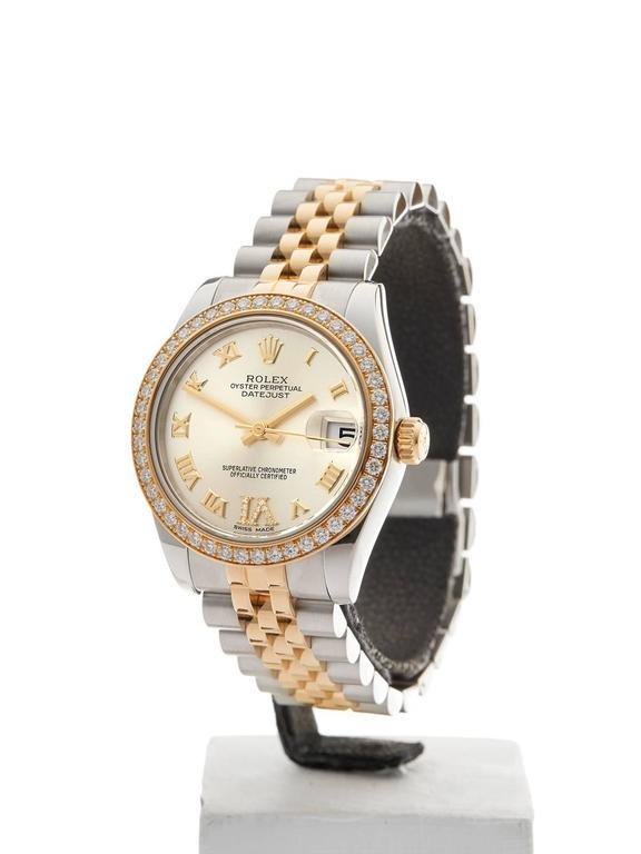 Rolex Datejust Original Diamond Bezel Stainless Steel/18 Karat Gold Ladies 178 2