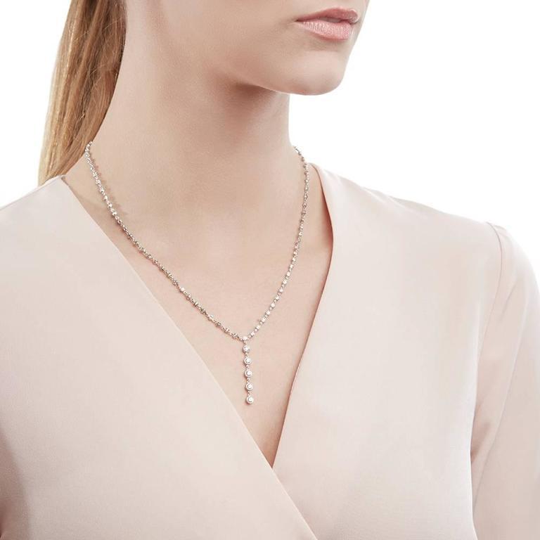 Tiffany & Co. 2.00 Carat Diamond Platinum Jazz T-Drop Necklace 8