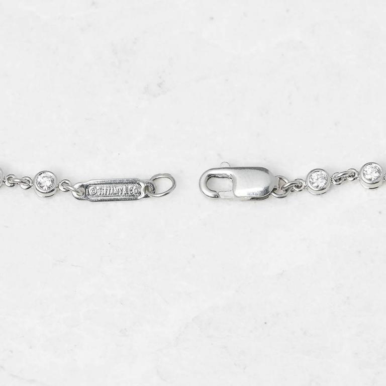 Tiffany & Co. 2.00 Carat Diamond Platinum Jazz T-Drop Necklace 4