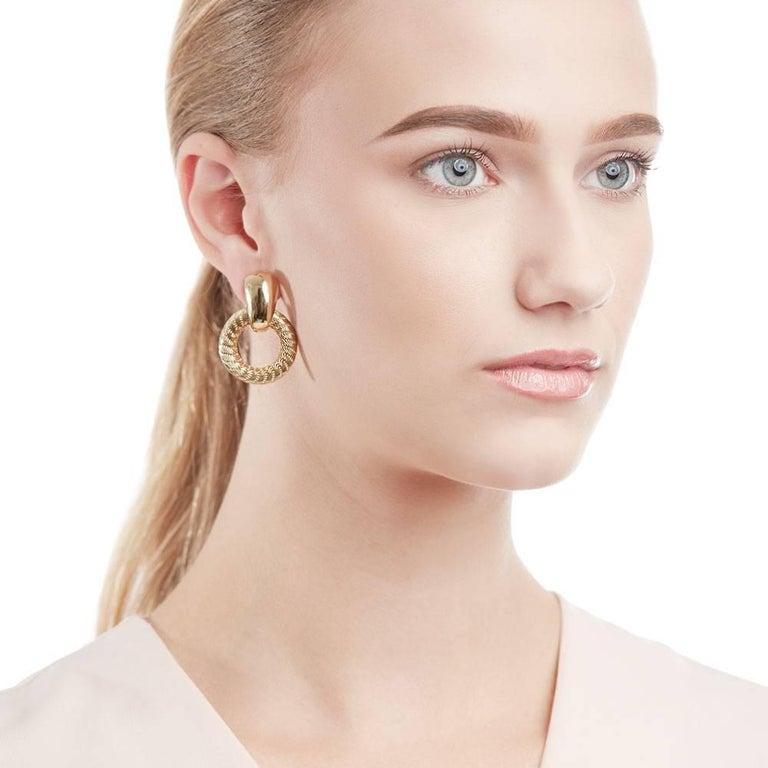 Tiffany & Co. Gold Hoop Earrings For Sale 2