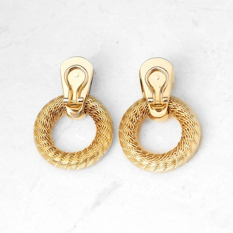 Ref:COM1049 Size: Earring Length - 3.7cm, Earring Width - 2.6cm Box & Papers: Xupes Presentation Box Material: 18k Yellow Gold, total weight - 34.24 grams Condition: 9 - Excellent condition  These Earrings by Tiffany & Co. feature a woven hoop