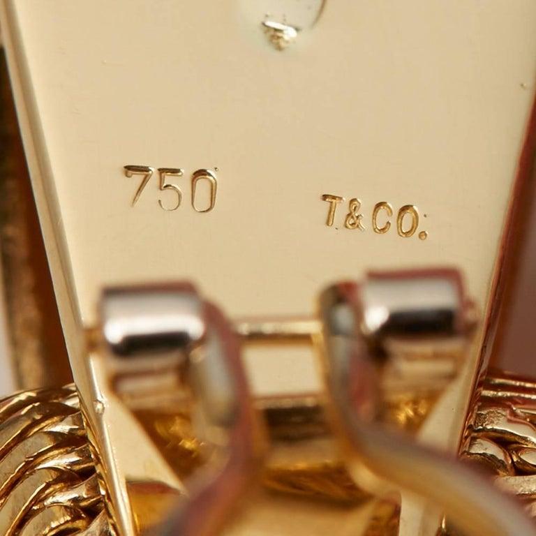 Tiffany & Co. Gold Hoop Earrings For Sale 1