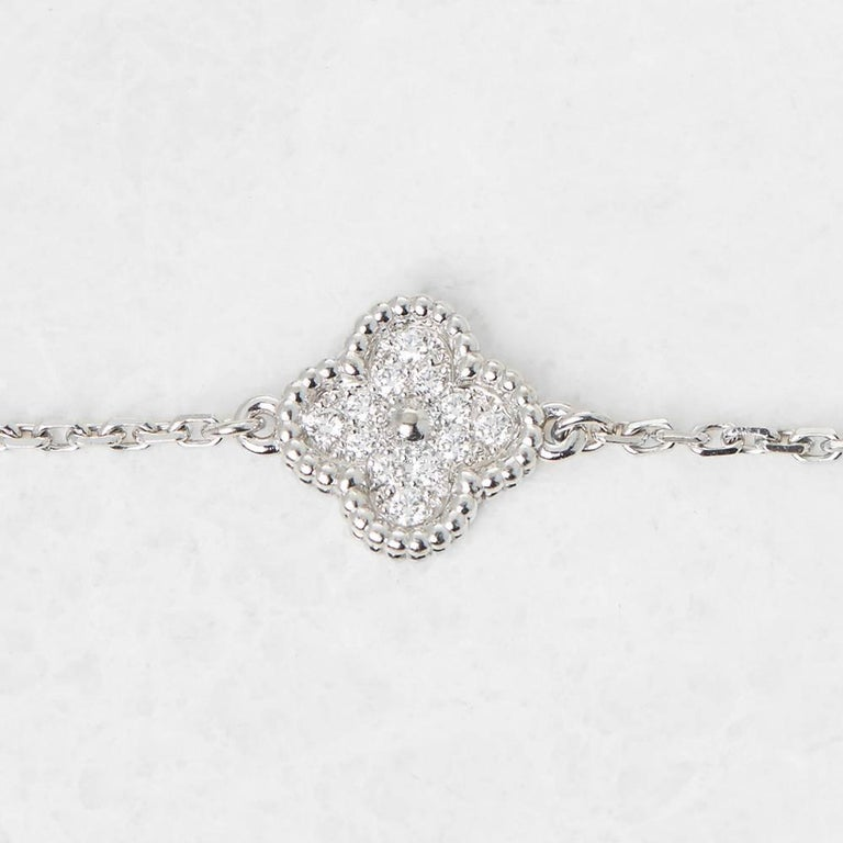 Van Cleef & Arpels Diamond Sweet Alhambra Bracelet For Sale 1