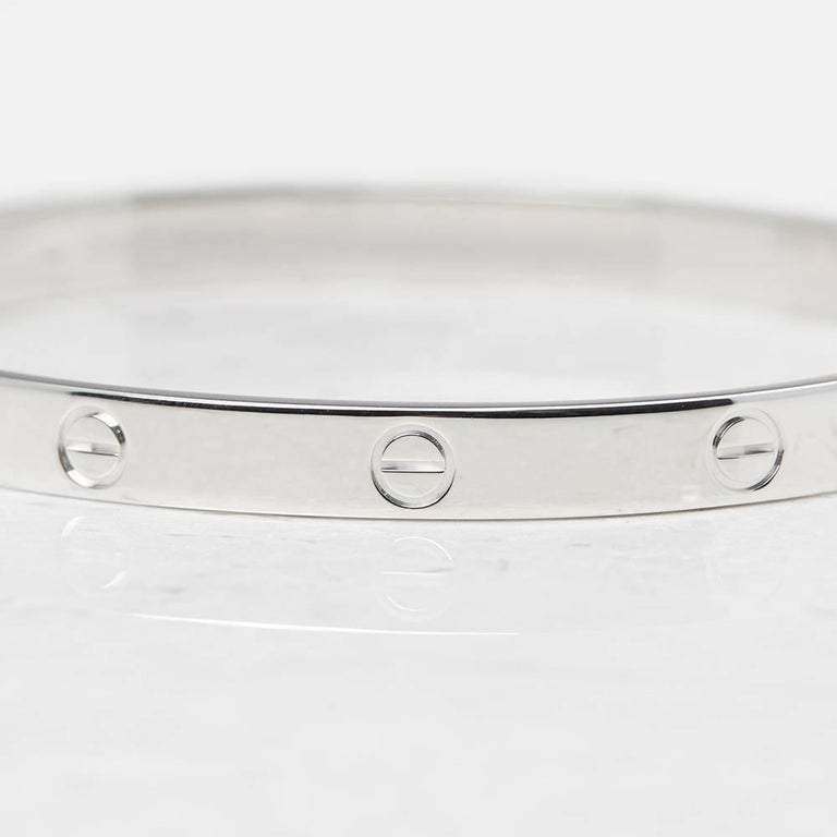 Cartier White Gold Love Bangle 2