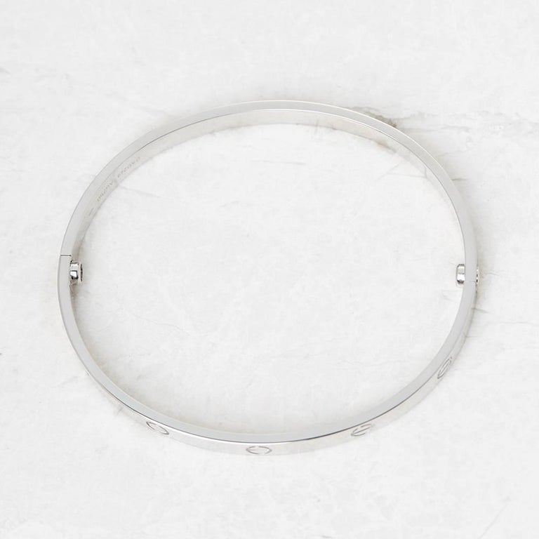 Cartier White Gold Love Bangle 4