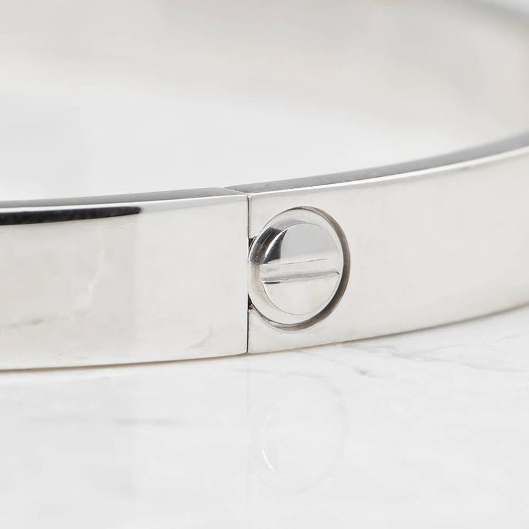 Cartier White Gold Love Bangle In Excellent Condition For Sale In Bishop's Stortford, Hertfordshire