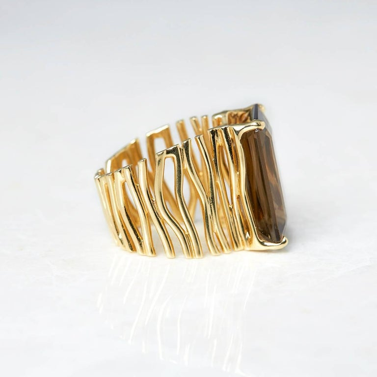 carla amorim smoky quartz gold ring for sale at 1stdibs