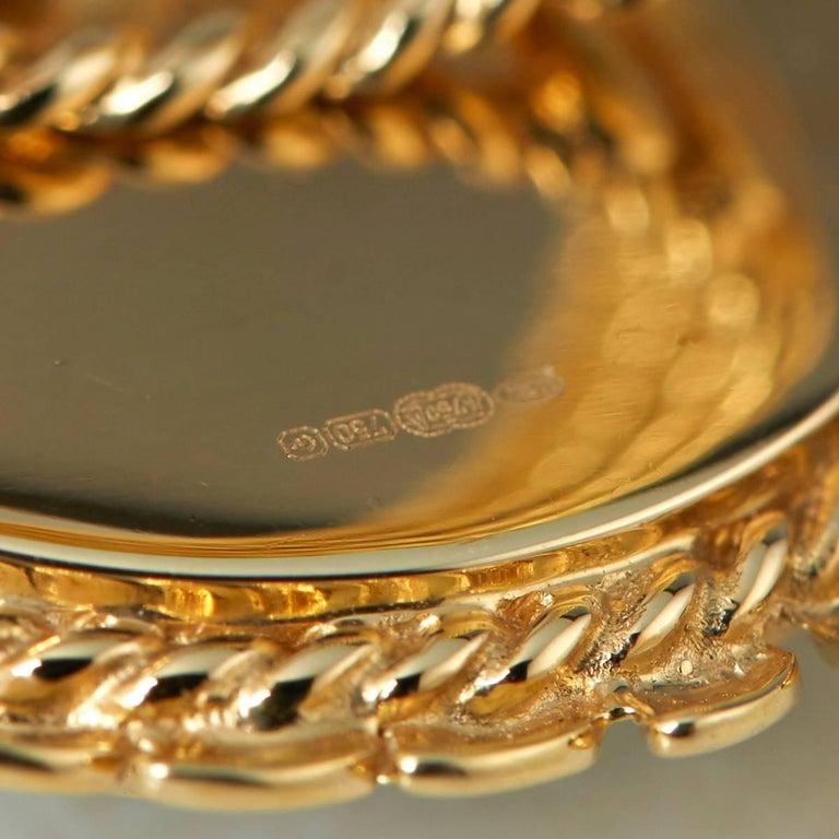 Carla Amorim 18 Karat Yellow Gold Cabochon Aquamarine Cocktail Ring For Sale 2