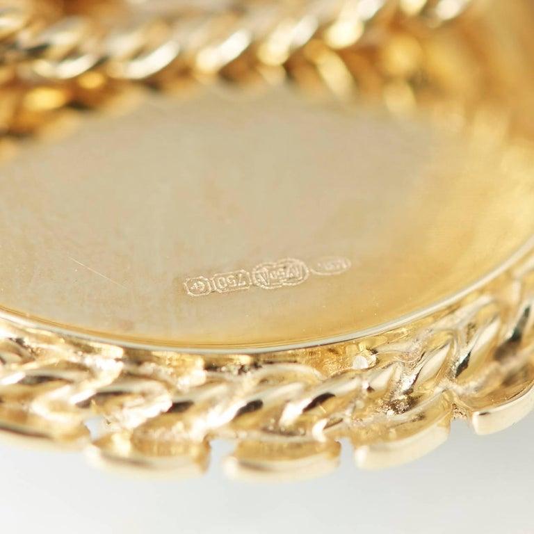 Carla Amorim 18 Karat Yellow Gold Cabochon Aquamarine Ring For Sale 2