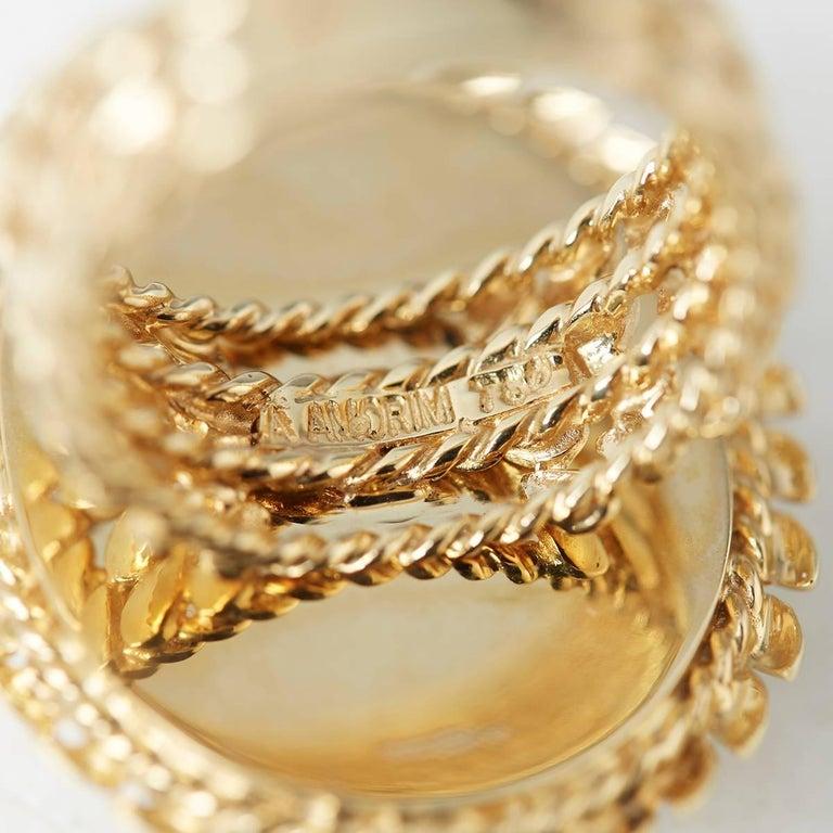 Carla Amorim 18 Karat Yellow Gold Cabochon Aquamarine Ring For Sale 3