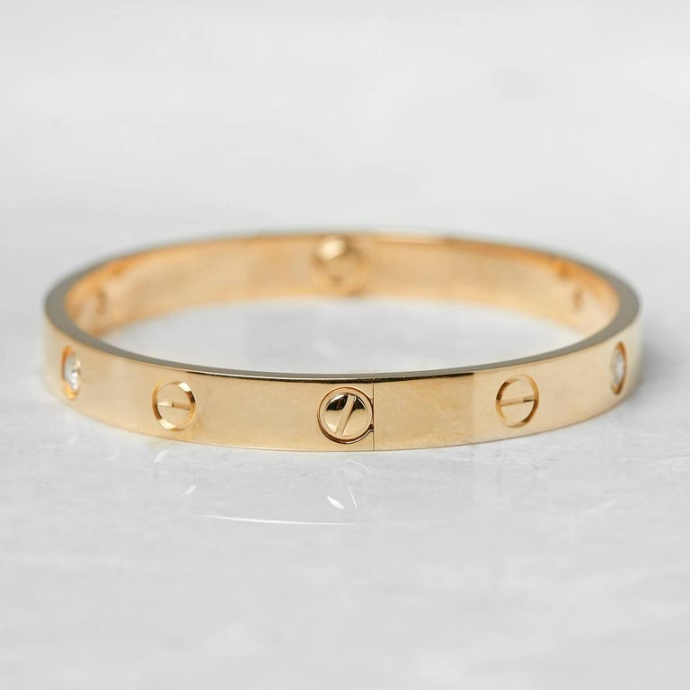 Cartier Diamond Yellow Gold Love Bracelet 2