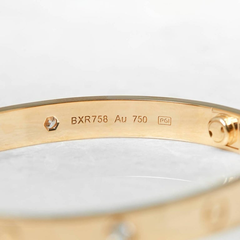 Cartier Diamond Yellow Gold Love Bracelet 5