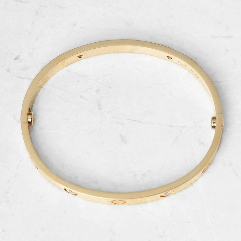 Cartier Diamond Yellow Gold Love Bracelet 4
