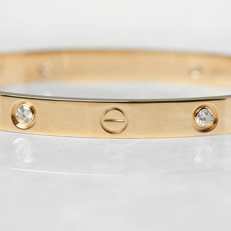 Cartier Diamond Yellow Gold Love Bracelet 3