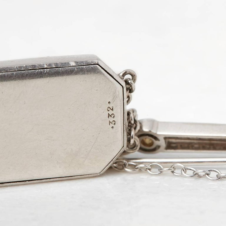 Cartier Platinum Diamond 1912 Vintage Brooch Watch  For Sale 3