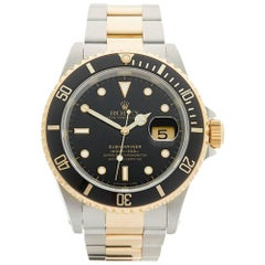Rolex Submariner Stainless Steel and 18 Karat Yellow Gold Gents 16613, 1989
