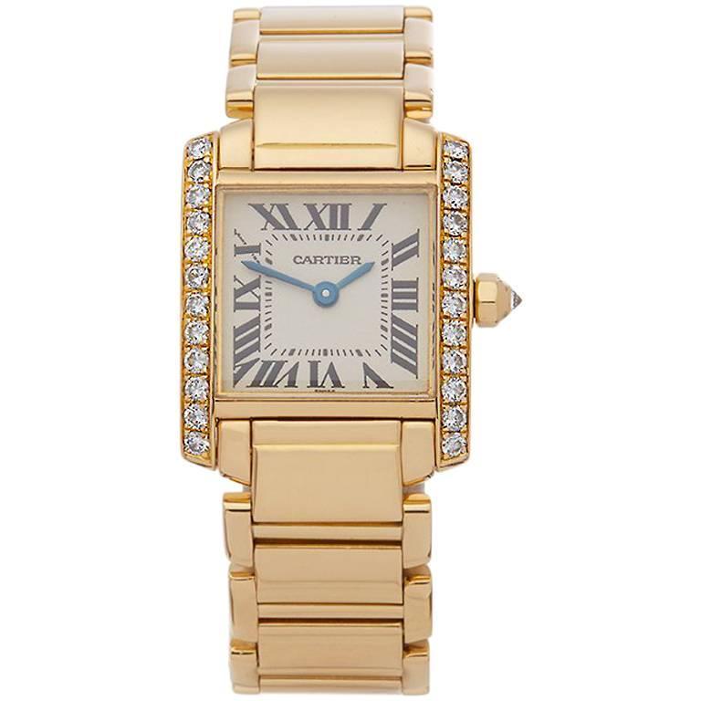 Cartier Ladies Yellow Gold Tank Francaise Quartz Wristwatch Ref 2364, 2000
