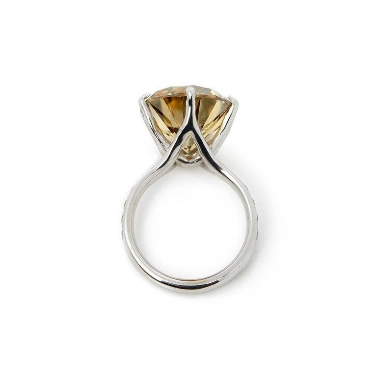 Women's 18 Karat White Gold Moissanite Diamond Cocktail Ring For Sale