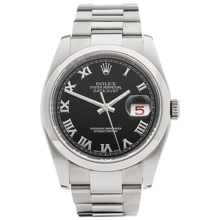Rolex Stainless Steel Datejust Automatic Wristwatch Ref 116200, 2006