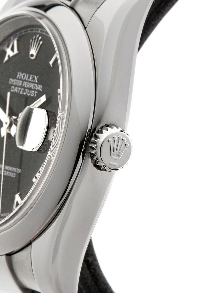 Women's or Men's Rolex Stainless Steel Datejust Automatic Wristwatch Ref 116200, 2006