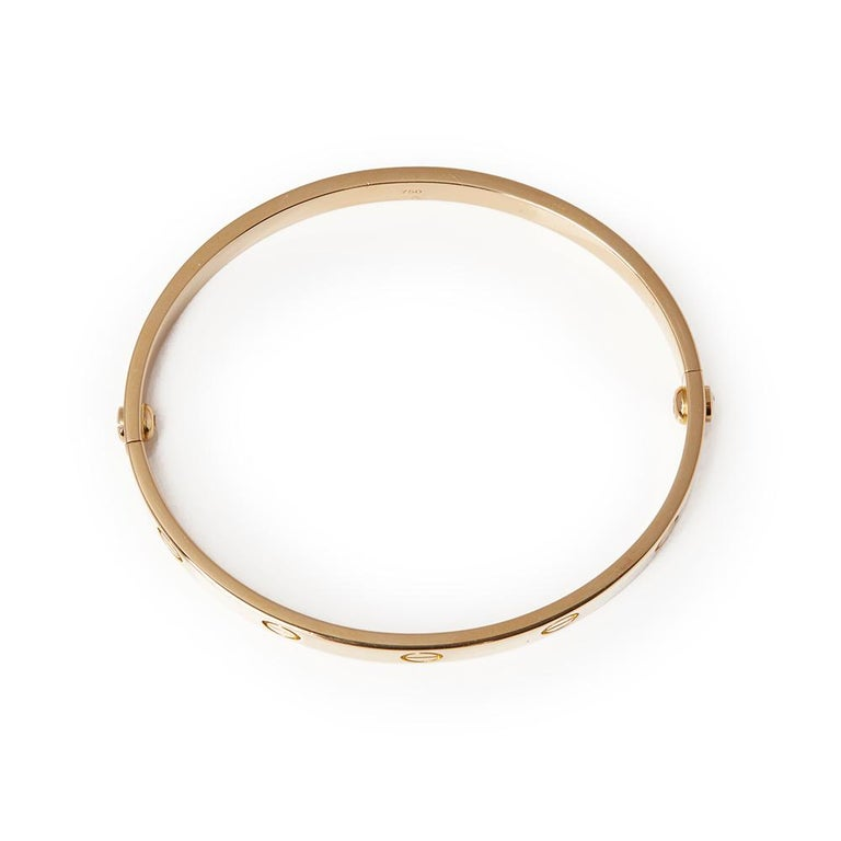 Cartier 18 Karat Yellow Gold Love Bangle For Sale 3