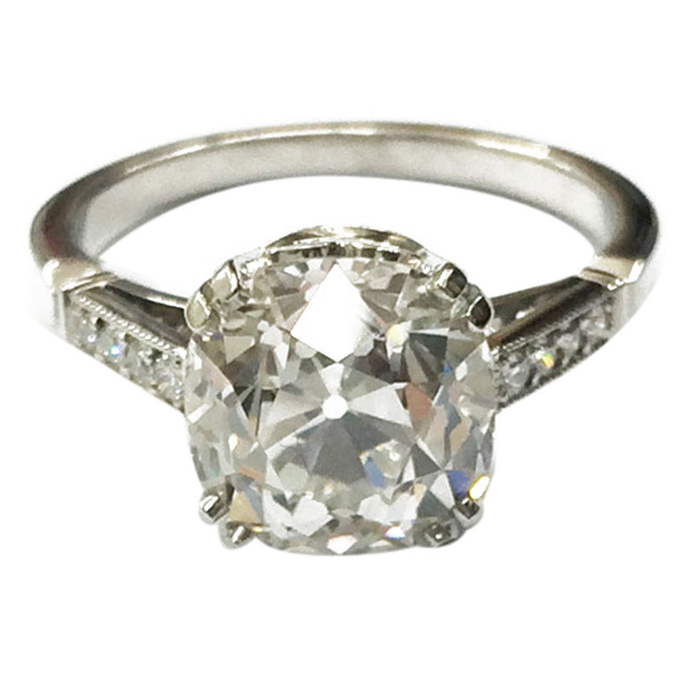 3 Carat Diamond Ring  Radiant Cut Diamond Bridal  Oval