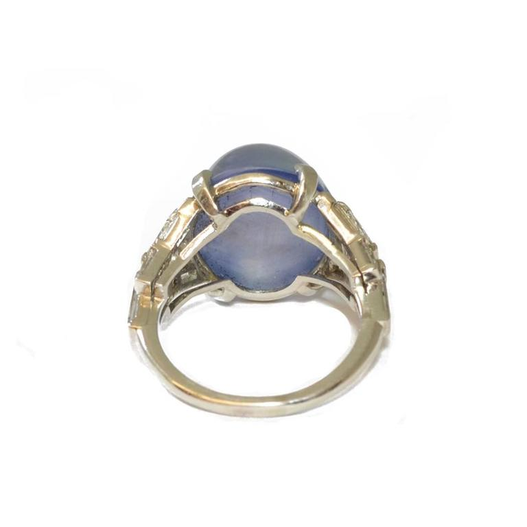 diamond platinum ring j cocktail at for sale blue l jewelry sapphire grey id rings art star deco