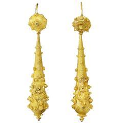 Georgian Cannetille Gold Earrings