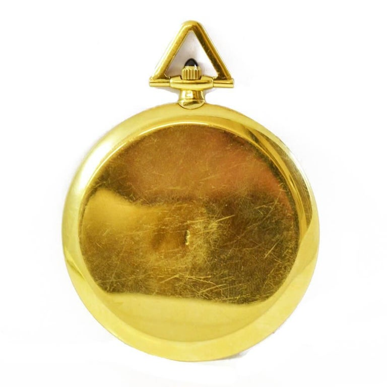 Cartier Yellow Gold Pocket Watch In Good Condition For Sale In London, GB