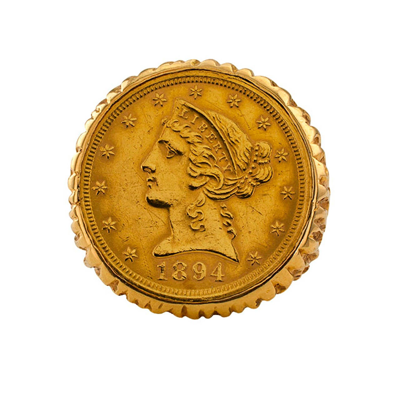 1970 us five dollar liberty gold coin ring at 1stdibs for Dollar jewelry and more
