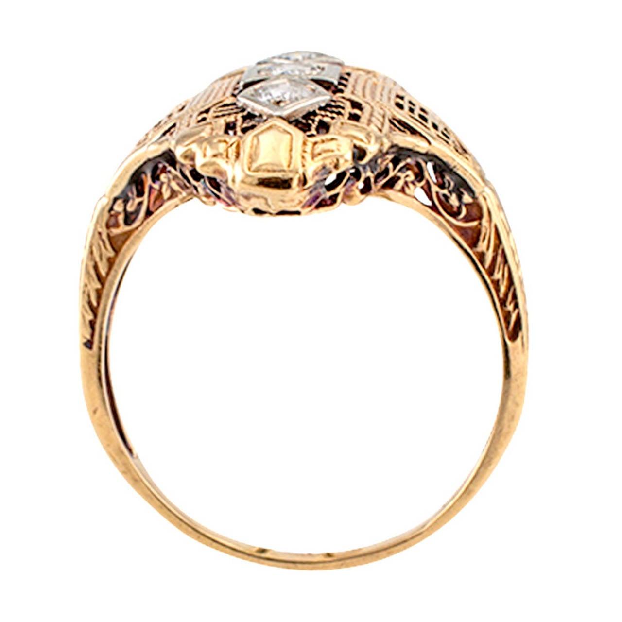 Diamond Filigree Dinner Ring