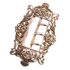 William Comyns Art Nouveau Sterling Silver Belt Buckle