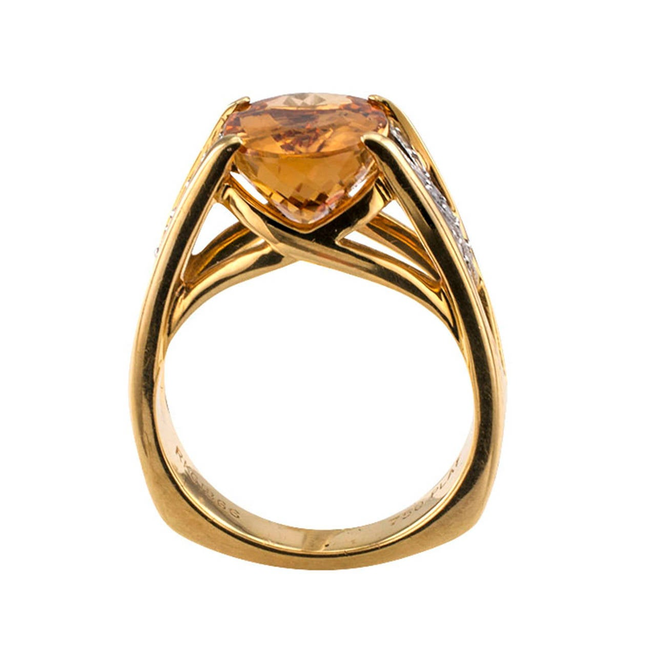 imperial topaz gold platinum ring at 1stdibs