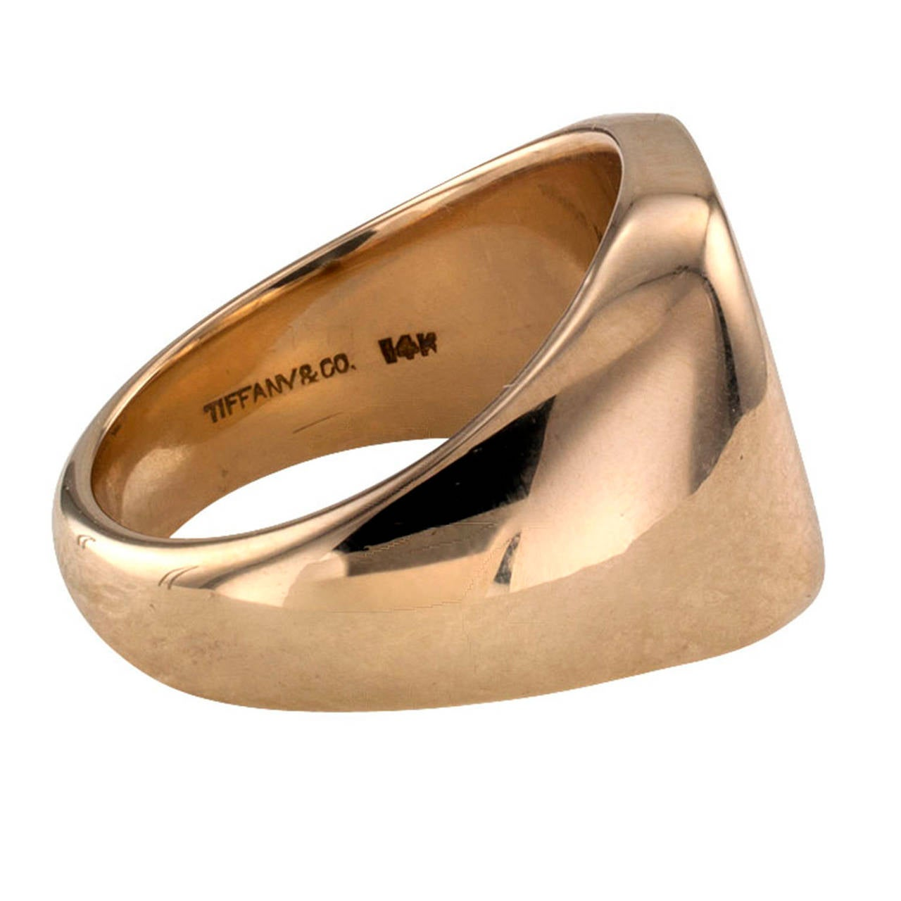 Tiffany & Co. Crest Gold Signet Ring 2
