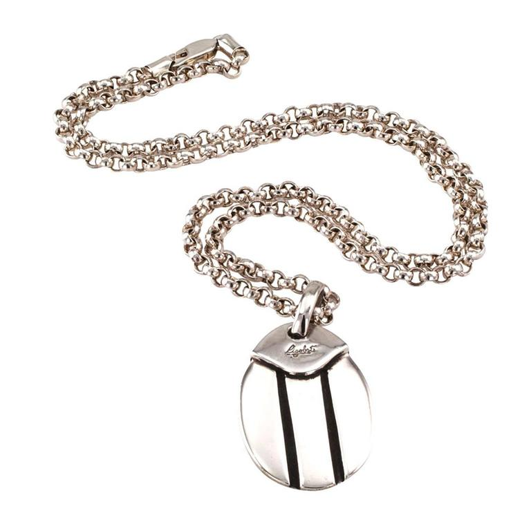 Rigoberto sterling silver dog tag pendant at 1stdibs contemporary rigoberto sterling silver dog tag pendant for sale aloadofball Images
