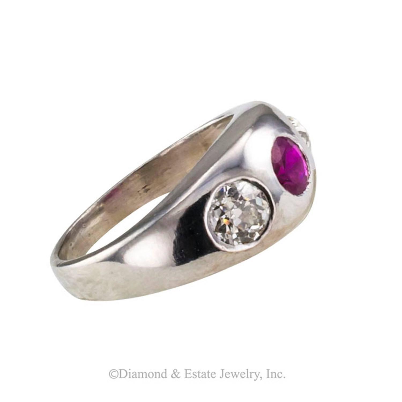 Antique Ruby Gypsy Ring
