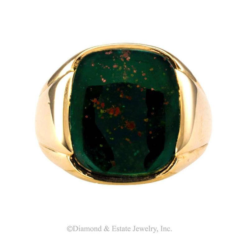 Retro 1940s Bloodstone Gentleman's Ring