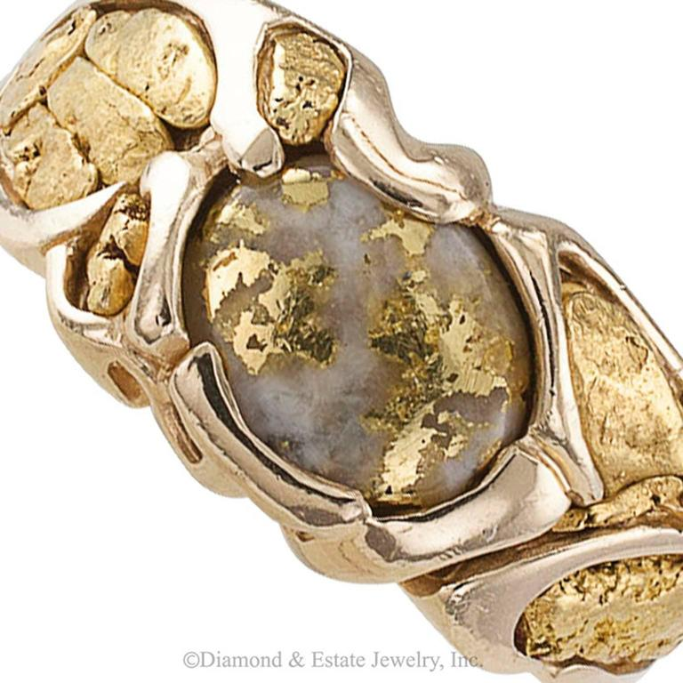 Gold Quartz and Gold Nugget Ring 3
