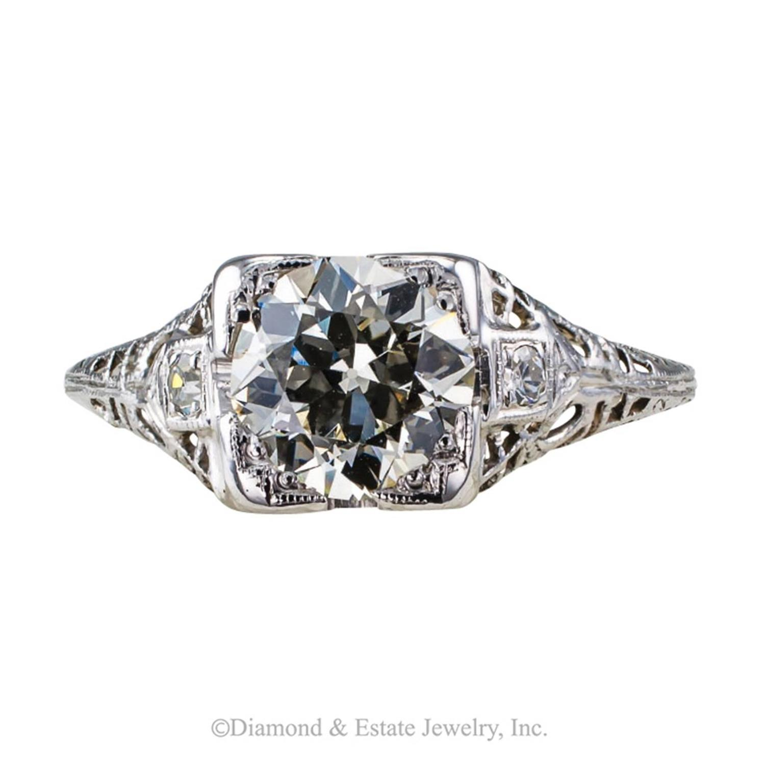 Carats art deco engagement ring for sale at 1stdibs for 26 carat diamond ring