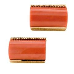 1960 Coral Gold Cufflinks