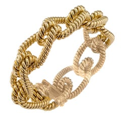 1970s Gold Knotted Rope Bracelet