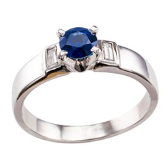 1960s Sapphire Diamond Engagement Ring
