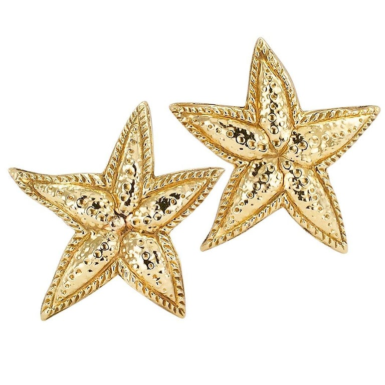 Sea Star Gold Ear Clips For Sale