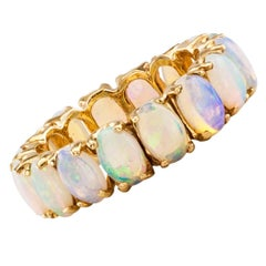Opal Gold Eternity Ring