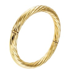 Tiffany & Co 1980s Fluted Gold Bangle