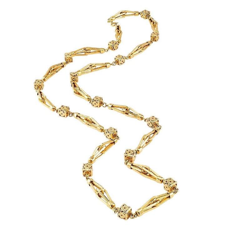1960s Gold Long Italian Chain