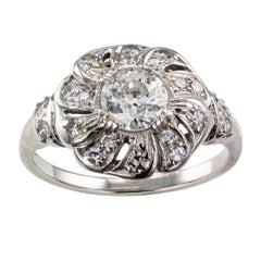 Art Deco 1930s Diamond Platinum Engagement Ring